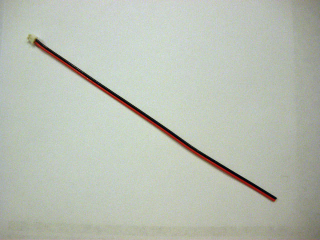 JST-ZH 2-Pin Male w/26 gauge bonded wires - 6""