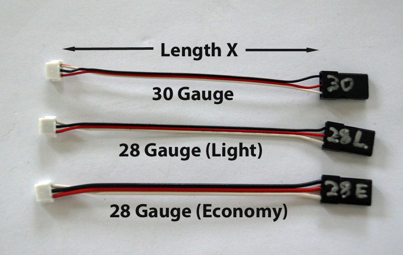 Micro-JST Male to Standard Male servo cable