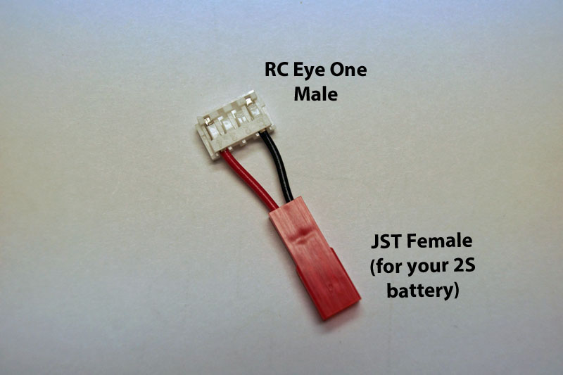 RC-eye-one male to JST Female