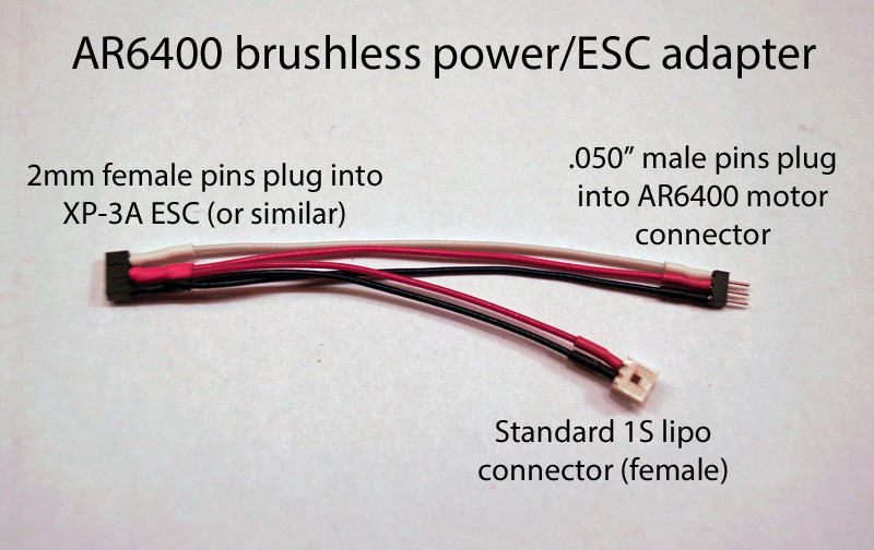AR6400 brushless ESC adapter