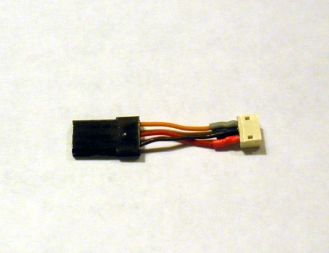 Regular servo Male to Micro-JST-Female converter