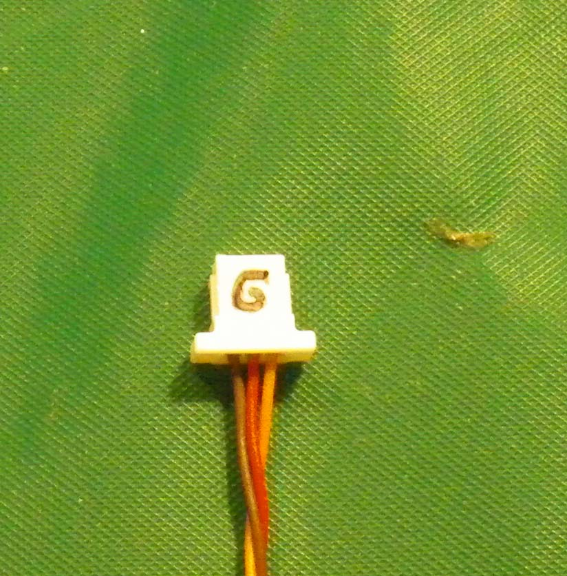 Nano-JST 3-pin with wires for Green-Dot-Vapor-Brick